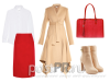 С чем носить красную юбку карандаш