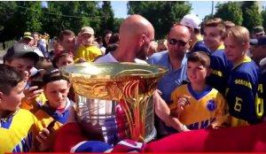 Андрей Марков привез в родной город Кубок Гагарина