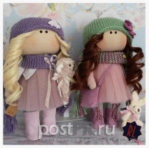 Интерьерные куклы – из ткани, своими руками