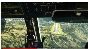 Эксклюзивные кадры. Как пилоты ведут посадку самолета в горах?