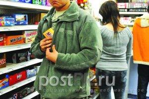 Воровство в супермаркетах процветает, но преступников ловят